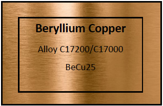 Beryllium Copper Etching Materials