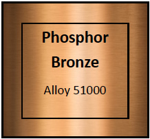 Phosphor Bronze Etching Materials